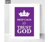 Keep Calm print, Christian wall art - home decor, Custom framed print