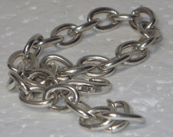 "Heavy Braided Bracelet, ready for charms, 7-7.5"", Sterling Silver"