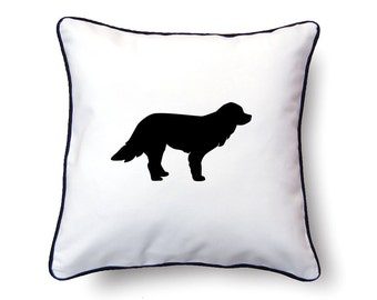 Welsh Sheepdog Pillow 18x18 - Welsh Sheepdog Silhouette Pillow - Personalized Name or Text Optional