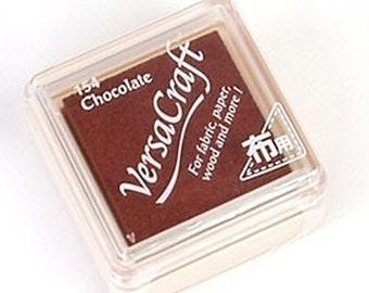 Stamp Ink Pad - VersaCraft Versa Craft Stamp Inkpad - for fabric, paper, wood &more - SMALL VKS-154 *Chocolate* wedding fingerprint tree