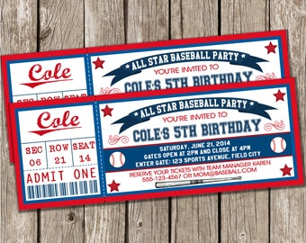 boy baseball invite  etsy, Party invitations