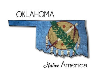 SALE! Oklahoma Native America blank notecard digital download