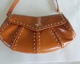 Vintage Maxx New York Leather Studded Handbag