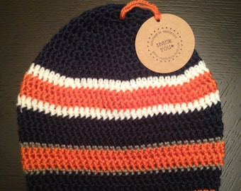 Chicago Bears Themed Beanie-- Baby/Toddler/Child/Adult
