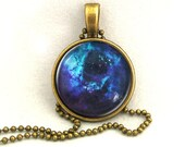 10% SALE Necklace Dark Blue Galaxy Universe Jewelry Space Pendant Necklaces,Constellation,Gift For Her