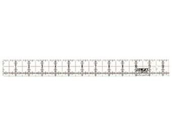 """OLFA (QR-1X12) Olfa Ruler 1"""" X 12"""" Frosted Acrylic #1071831"""
