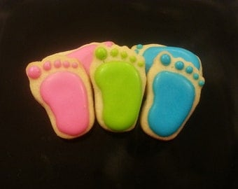 Mini Baby Footprint Cookies (3 dozen)