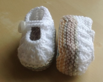 Hand Knitted Baby Shoes, Made to Order Booties