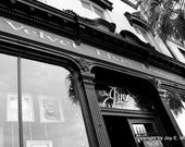 Savannah GA architecture in black and white- beautiful old bar
