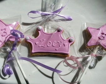 Princess Cookies- One dozen