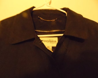 Vintage Appleseed XL Petite Trench Coat, with Winter Lining, Mid Length, Dark Green