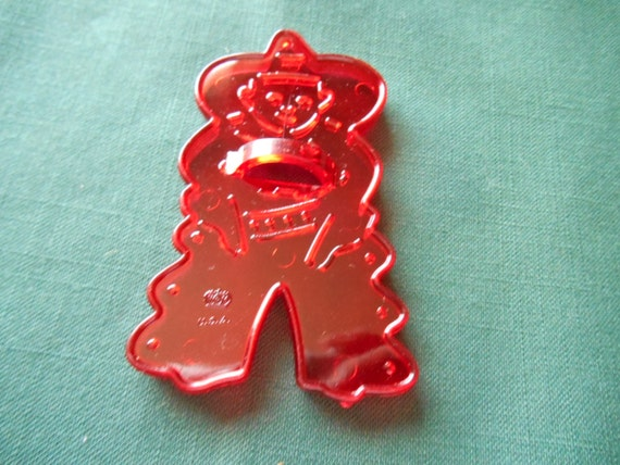 red plastic cookie cutters