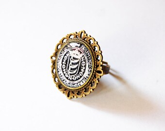 Countess Elizabeth Báthory de Ecsed Crest Cameo Ring - Báthory Erzsébet Ring - Báthory Jewelry - Horror - Goth - Gothic - Victorian - Dark