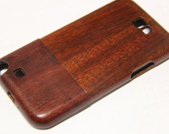 Samsung Galaxy Note 2 wood phone case hand-finished red mahogany finish