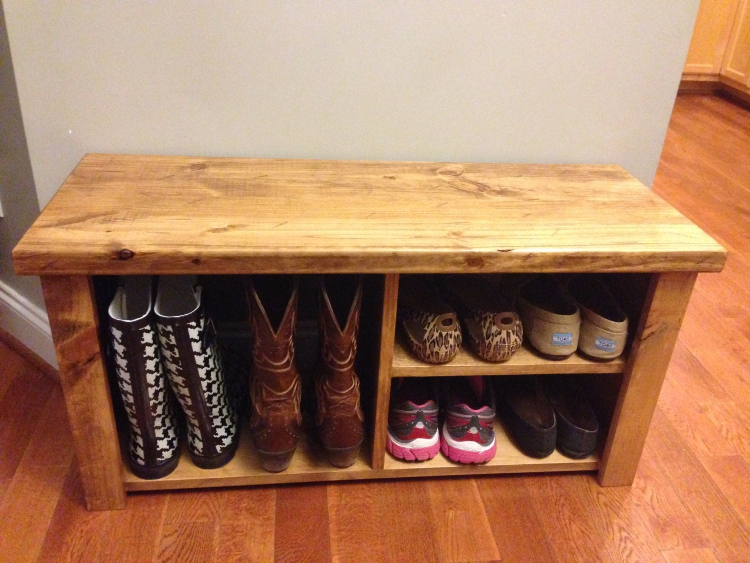 36 Rustic Shoe Amp Boot Bench By Jrscustomwoodwork On Etsy