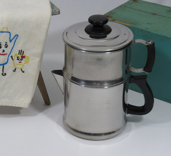 Drip Coffee Maker 8 Cup Lifetime Stainless Steel Vintage