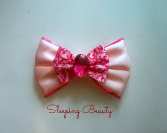 Sleeping Beauty Princess Aurora Inspired Bow