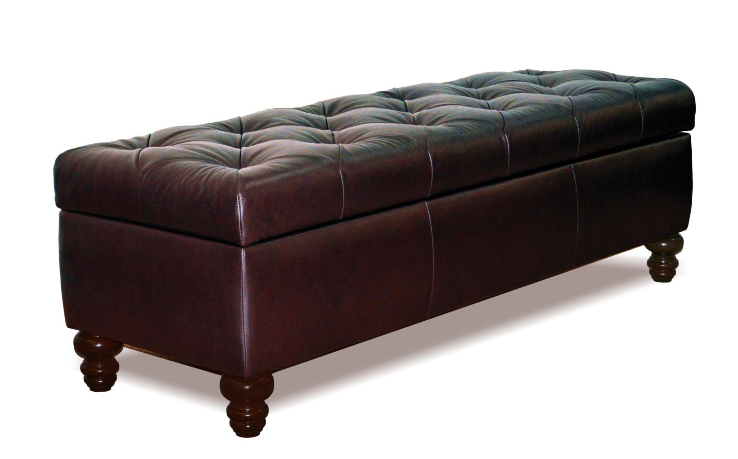 King Size Chesterfield Storage Bench Button Tufted