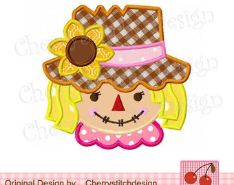 Scarecrow  02 Applique - Girls embroidery designs-4x4 5x7 6x10-Machine Embroidery Applique Design