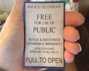 Doctor Who Magnet. FREE us SHIPPING. Pull To Open. TARDIS Blue
