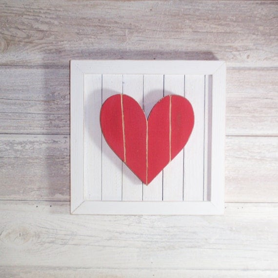 Hanging Heart Wall Decor : Items similar to handcrafted hand painted wooden heart