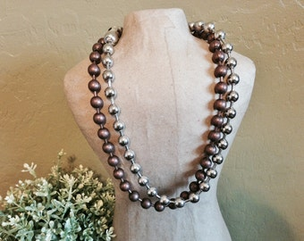 Copper or Nickel Plated #20 ball chain necklace