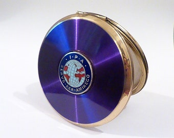 """Vintage powder compacts The International Police Association IPA vintage Stratton compact Stratton """"Mini- Convertible"""" powder compacts"""