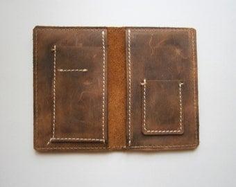 Western Slim Wallet,Man Leather Wallet, Handmade wallet, Raw wallet, Bilfold, Leather bill fold,