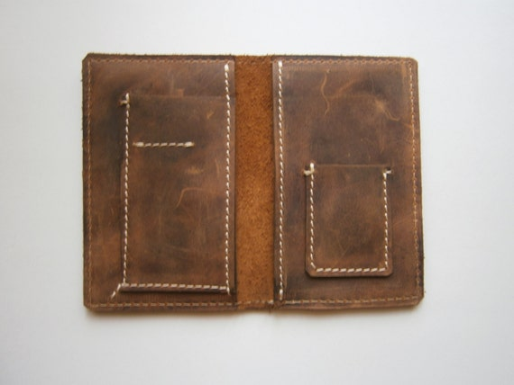 Western Slim Wallet,Man Leather Wallet, Handmade wallet, Raw wallet, Bilfold, Leather bill fold,