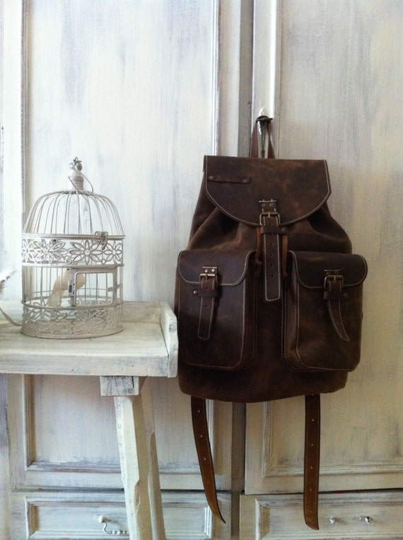 Large Backpack 50cm / 31cm/ 20cm Leather Backpack, BackPack,School BackPack,school rucksack,Handmade Man BackPack,Overnight bag, weekender b