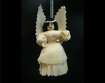 Corn Husk Angel Ornaments from Guatemala