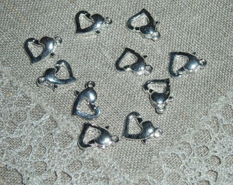 Lobster Claw Clasps, Alloy, Silver  color, Nickel Free, about 12 mm long
