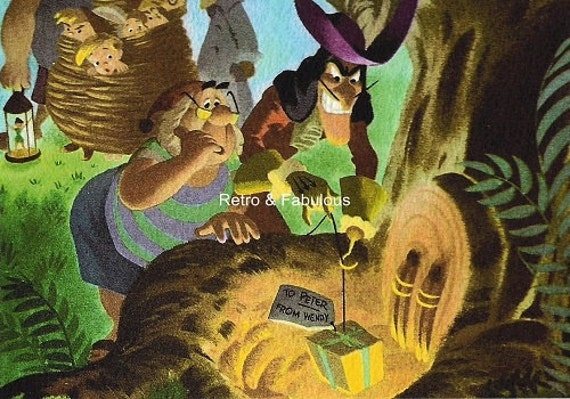PETER PAN Disney ART Captain Hook And Crew Wall Art Home