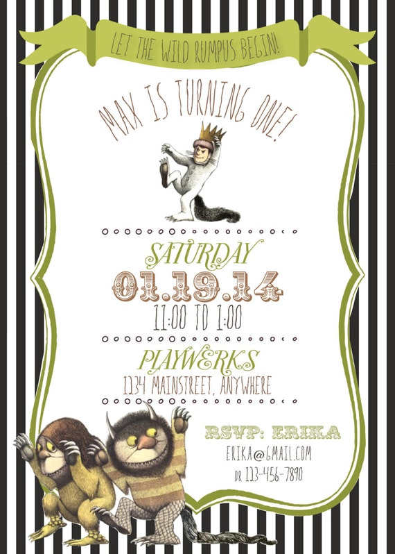 Where The Wild Things Are Invitation was amazing invitation ideas
