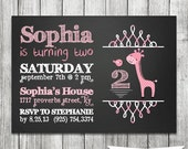 Little Girl Birthday Invitation - PRINTABLE 5X7 JPG