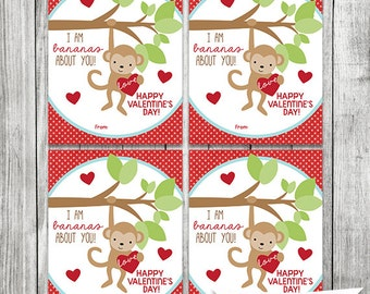 i am bananas about you valentine cards monkey valentine cards kids valentine cards