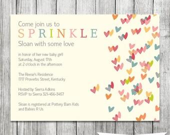 Baby Sprinkle Invitation - 5x7 JPG PRINTABLE