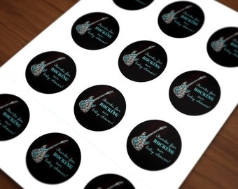 INSTANT DOWNLOAD Rock a Bye Baby Shower favor labels - Printable Digital file