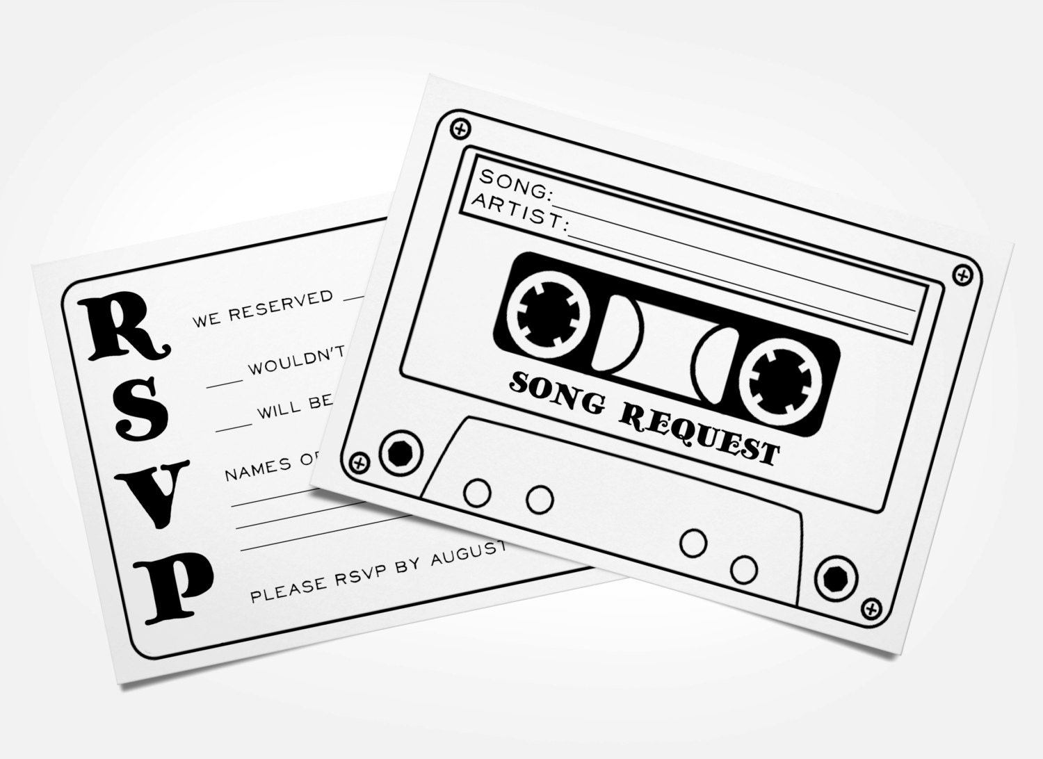 Cassette Tape Invitation for awesome invitation template