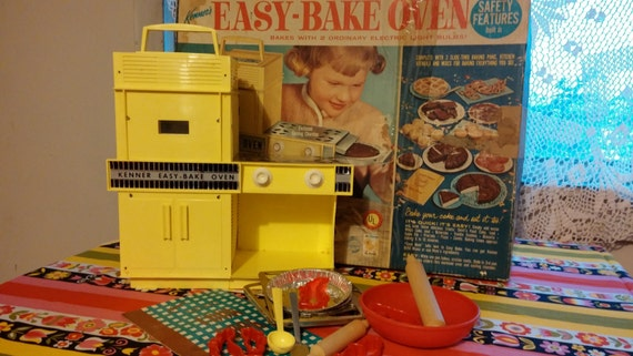 Original 1964 Easy Bake Oven Works With Box And Kitch Tools