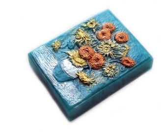 Sunflowers Soap Bar in Metallic Colors