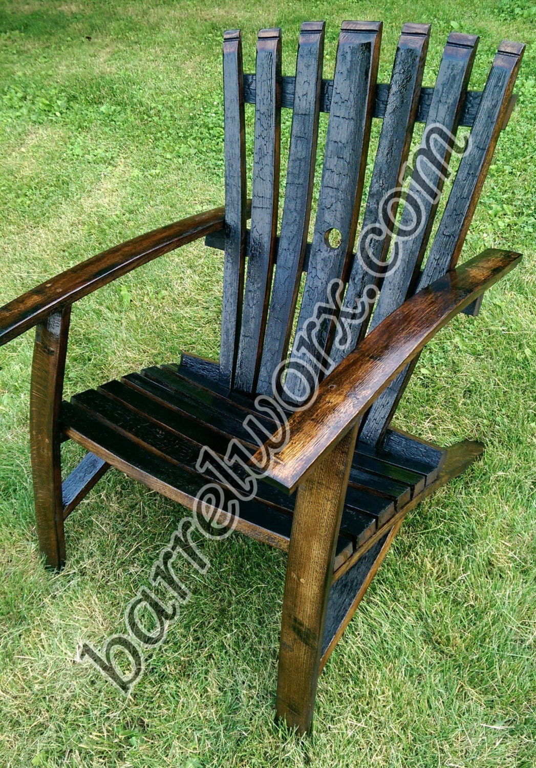 whiskey barrel stave adirondack chair. Black Bedroom Furniture Sets. Home Design Ideas