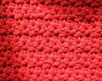 Hand Crocheted Dish Rag Red