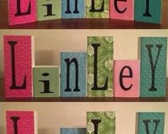 Chilrdren's Name Blocks (6-8 letters)