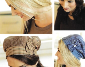 """Pattern """"Banded Beret"""" Hat Paper Sewing Pattern by Indygo Junction (IJ931)"""