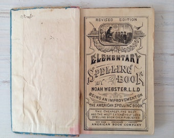 Antique National Standard Elementary Spelling Book