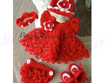 Valarie ....5 PATTERNS PT084, Baby GAIL Dress Set, Baby ...