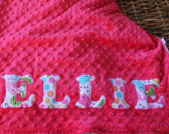 PERSONALIZED BLANKET - Baby/Toddler/Child Minky Blanket - Double Sided Minky Blanket - Unique Name Blanket