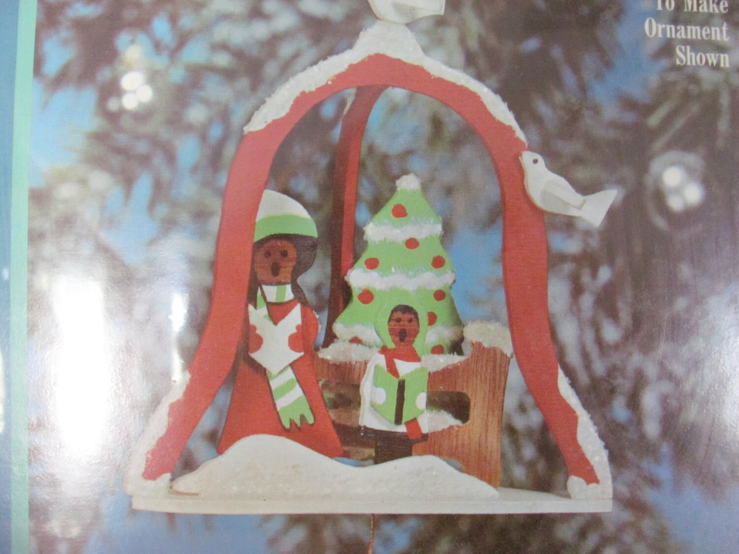 Craft master paint by number kits -  Craft Master Paint By Number Wood Ornament Kit Christmas Caroler Ornament Christmas Decor Sold By Thirstyowlvintage
