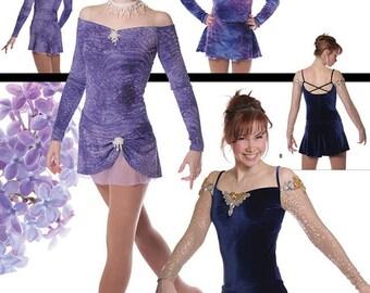 Jalie Off-the-Shoulder Figure Skating Dress Sewing Pattern # 2913 Women & Girls 22 Sizes